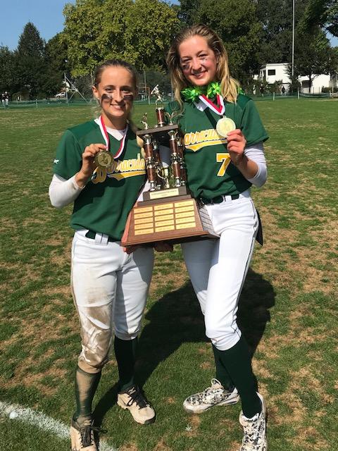Die Geschwister Kimberly und Michelle Zehnder aus Wittenbach gewannen mit den Rümlang Barracudas am vergangenen Wochenende den Schweizer Meistertitel 2018 im Softball